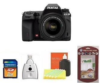K-5 DSLR CAMERA W/DA  18-55MM WR ZOOM LENS • 2GB MEMORY CARD• CAMERA/LENS CLEANING KIT• LCD  SCREEN PROTECTORS• MEMORY CARD READER *FREE SHIPPING*
