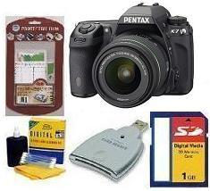 K-7 Digital SLR Camera W/ DA  18-55mm WR Lens • 1GB Memory Card• Camera/Lens Cleaning Kit• LCD  Screen Protectors• Memory Card Reader *FREE SHIPPING*