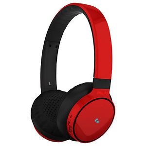 SHB9100RD Wireless Bluetooth Over-the-Head Stereo Headphone with Superior Bass & Optimum Clarity - Red *FREE SHIPPING*