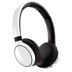 SHB9100WT Wireless Bluetooth Over-the-Head Stereo Headphone with Superior Bass & Optimum Clarity - White  *FREE SHIPPING*