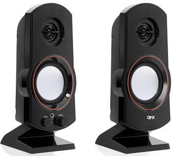 Amplified USB 2.0 Speakers, Black *FREE SHIPPING*