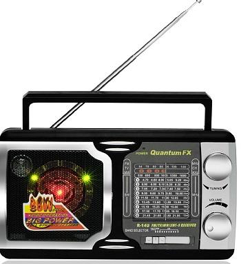 Quantum FX AM FM TV2-5 SW 1-SW 9 Radio 12 Band Radio - R-14U *FREE SHIPPING*