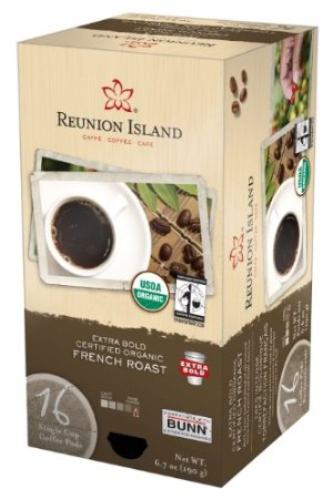 RI58551 Extra Bold Fair Trade & Organic French Roast Single Cup Coffee Pods, 16-Count *FREE SHIPPING*