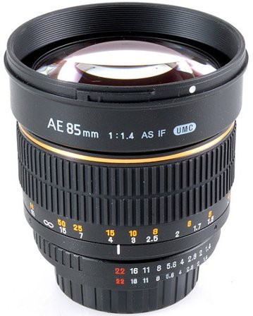 85mm f/1.4 Telephoto Lens  For Nikon With Built-In Focus Confirm Chip (72mm) *FREE SHIPPING*