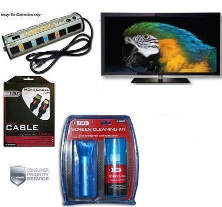 PN-64D550C 64-Inch 1080p 600Hz 3D Plasma HDTV (Black) • Surge Protector • Cable • TV Cleaning Kit • 3 Year Warranty *FREE SHIPPING*