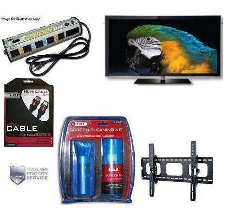 PN-64D550C 64-Inch 1080p 600Hz 3D Plasma HDTV (Black) • Surge Protector • Cable • TV Cleaning Kit • Tilt Mount • 5 Year Warranty *FREE SHIPPING*