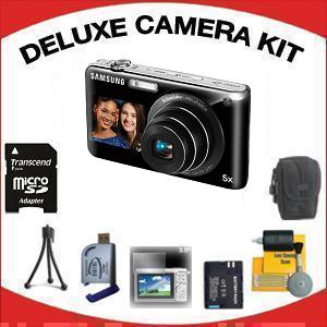Dualview ST-600 Digital Camera - Black with Deluxe Accessory Kit (8GB Mem Card, Card Reader, Carrying Case, Spare Battery & More) *FREE SHIPPING*