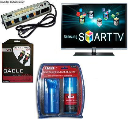 UN55D6500 55 inch LED 6500 Series Smart TV • Surge Protector • Cable • TV Cleaning Kit