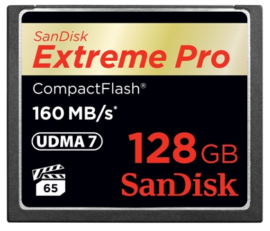 128GB Extreme Pro UDMA 7 Compact Flash Memory Card (Up to 160MB/150MB/s) *FREE SHIPPING*