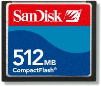 512mb Compact Flash (Cf) Memory Card