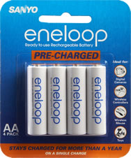Eneloop Pre-Charged Rechargeable AAA Batteries (4-Pack)