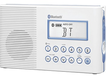 H202 AM/FM/Weather, Digital tuned Waterproof/Shower Radio with Bluetooth *FREE SHIPPING*