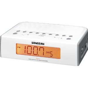 RCR-5 Digital AM/FM Clock Radio - White *FREE SHIPPING*
