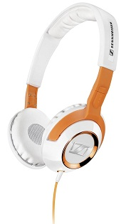 HD 229 Over-Ear Bass Headphones (White/Orange) *FREE SHIPPING*