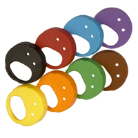 Colored End Caps For Ewg2 Skm Handheld Transmitters, Assortment Of Eight Colors