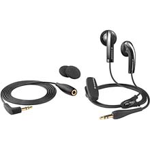 Earbud Headphones With Basswind System, Extension Cable And Carrying Case (Black)