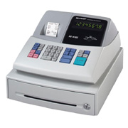 Cash Register W/ 8 Depts Prc Lk- Ups 4 Clrk Nmbr Ato Tx Prgm