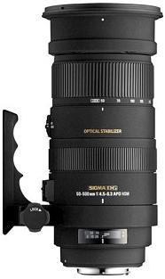 50-500/4-6.3 APO DG OS HSM Telephoto Zoom Lens For Sony Alpha & Minolta Maxxum (95mm) *FREE SHIPPING*