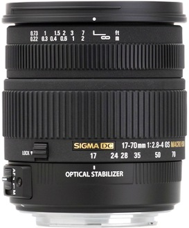 DC 17-70mm F/2.8-4 OS (Optical Stabilized) HSM Aspherical Wide-Angle Zoom Lens For Sony Alpha & Minolta Maxxum Aps-C Digital SLRs (72mm) *FREE SHIPPING*