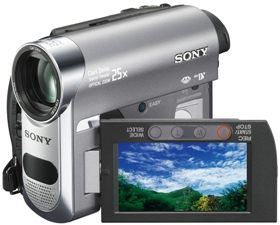DCR-HC62 1.0 Megapixel, 25x Carl Zeiss Optical/2000x Digital Zoom, 2.7 Inch Touch Panel LCD Screen, Mini Dv Camcorder