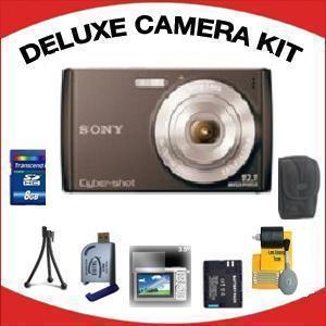 DSC-W510 DIGITAL CAMERA BLACK with Deluxe Accessory Kit (8GB Mem Card, Card Reader, Carrying Case, Spare Battery & More) *FREE SHIPPING*