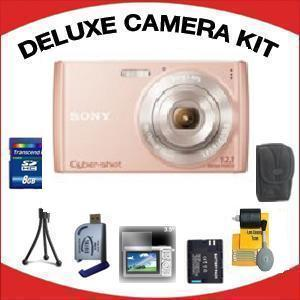 DSC-W510 DIGITAL CAMERA PINK with Deluxe Accessory Kit (8GB Mem Card, Card Reader, Carrying Case, Spare Battery & More) *FREE SHIPPING*