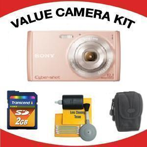 DSC-W510 DIGITAL CAMERA PINK with Value Accessory Kit (2GB Mem Card, Carrying Case & Cleaning Kit) *FREE SHIPPING*