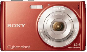 DSC-W510 12.1 megapixel 4x optical zoom 2.7inch LCD screen Digital Camera Red *FREE SHIPPING*