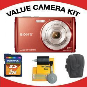 DSC-W510 DIGITAL CAMERA RED with Value Accessory Kit (2GB Mem Card, Carrying Case & Cleaning Kit) *FREE SHIPPING*