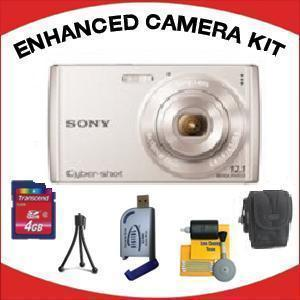 DSC-W510 DIGITAL CAMERA SILVER with Enhanced Accessory Kit (4GB Mem Card, Card Reader, Carrying Case, Tripod & Cleaning Kit) *FREE SHIPPING*