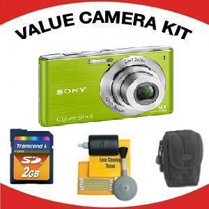 DSC-W530 DIGI TALCAMERA GREEN with Value Accessory Kit (2GB Mem Card, Carrying Case & Cleaning Kit) *FREE SHIPPING*