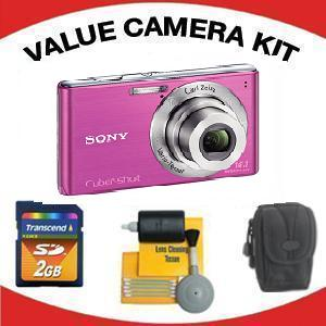 DSC-W530 DIGITAL CAMERA PINK with Value Accessory Kit (2GB Mem Card, Carrying Case & Cleaning Kit) *FREE SHIPPING*