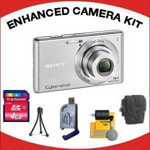 DSC-W530 DIGITAL CAMERA SILVER with Enhanced Accessory Kit (4GB Mem Card, Card Reader, Carrying Case, Tripod & Cleaning Kit) *FREE SHIPPING*
