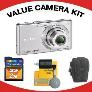 DSC-W530 DIGITAL CAMERA SILVER with Value Accessory Kit (2GB Mem Card, Carrying Case & Cleaning Kit) *FREE SHIPPING*