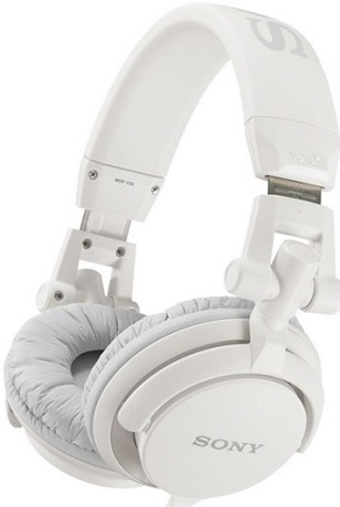 MDR-V55/WHI DJ style Headphones *FREE SHIPPING*