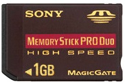 Msxm-1gn, 1gb High Speed Memory Stick Pro Duo