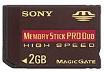 Msxm-2gn, 2gb High Speed Memory Stick Pro Duo