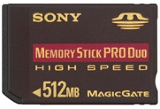 Msxm-512n, 512mb High Speed Memory Stick Pro Duo
