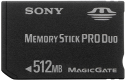 Msxm-512s, 512mb Memory Stick Pro Duo