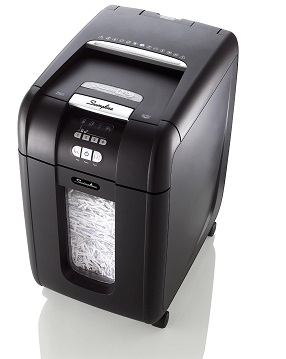 Swingline Stack-and-Shred 250X Cross-Cut Hands Free Shredder