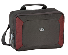 Zuma Compact Mirrorless Compact Photo Shoulder Bag - Black/Burgundy *FREE SHIPPING*