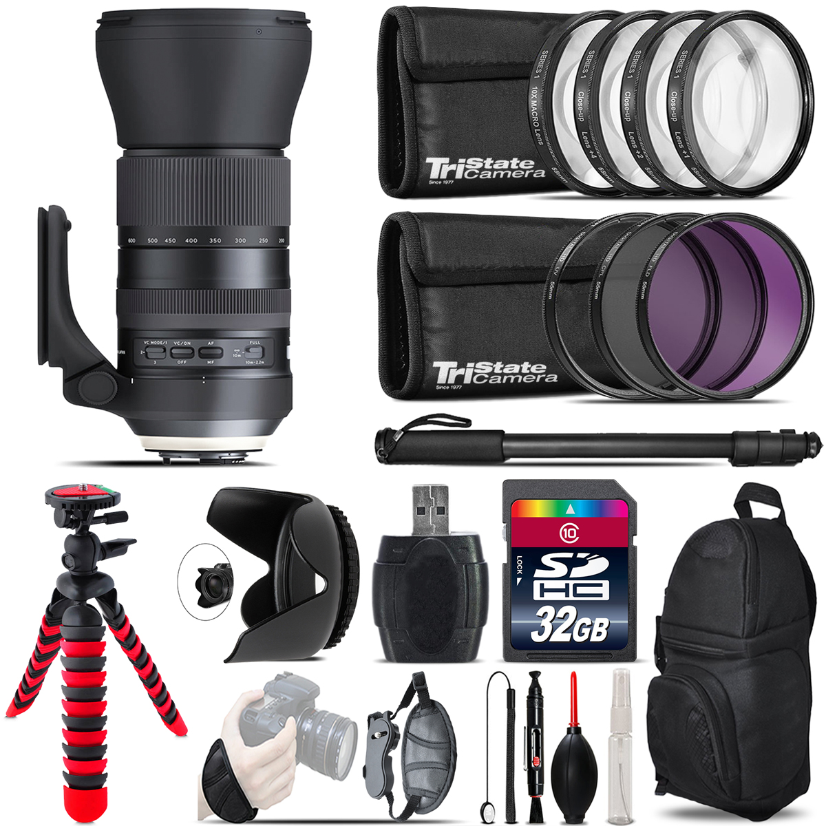 Tamron 150-600mm G2 for Canon + Macro Filter Kit & More - 32GB Accessory Kit *FREE SHIPPING*