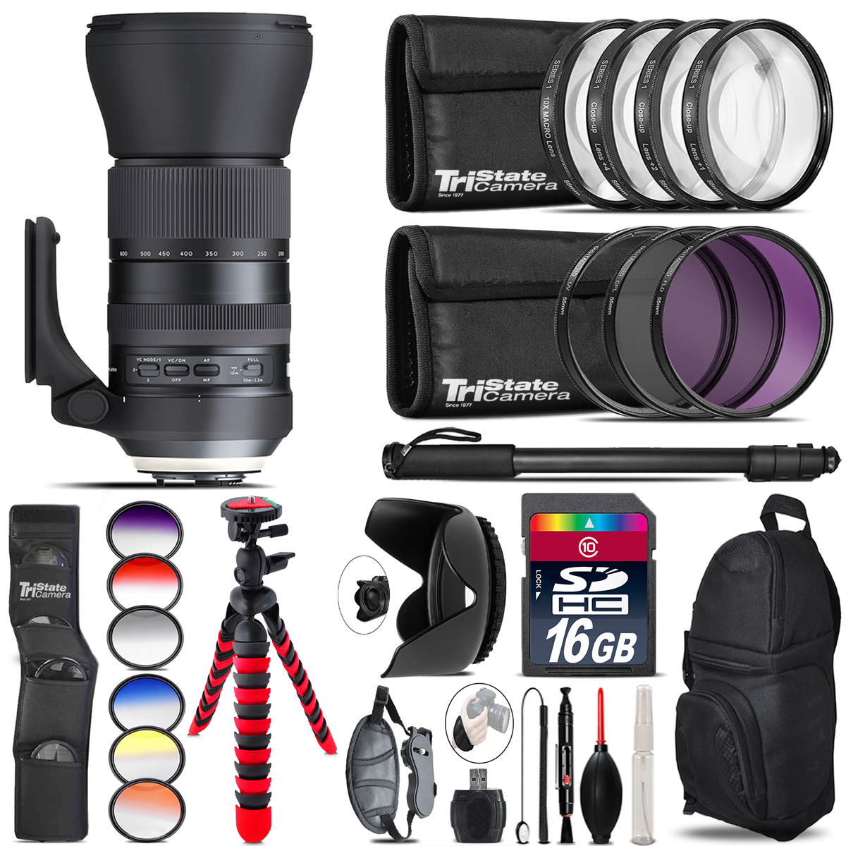 Tamron 150-600mm G2 for Canon + Graduated Color Filter - 16GB Accessory Kit *FREE SHIPPING*