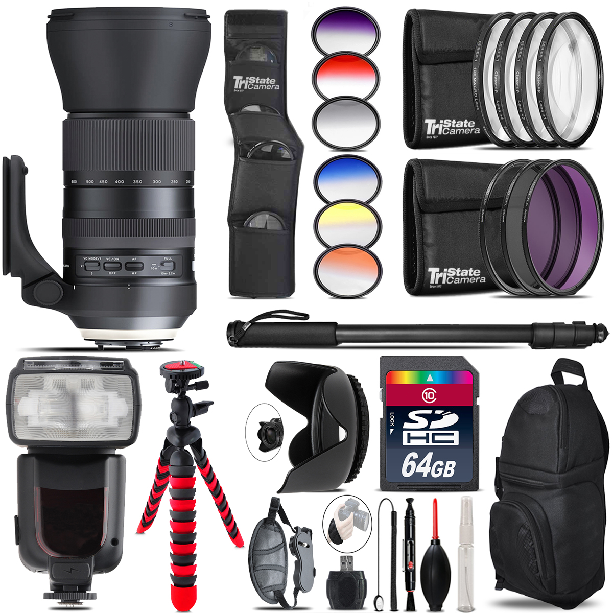 Tamron 150-600mm G2 for Canon + Pro Flash + Filter Kit - 64GB Accessory Kit *FREE SHIPPING*
