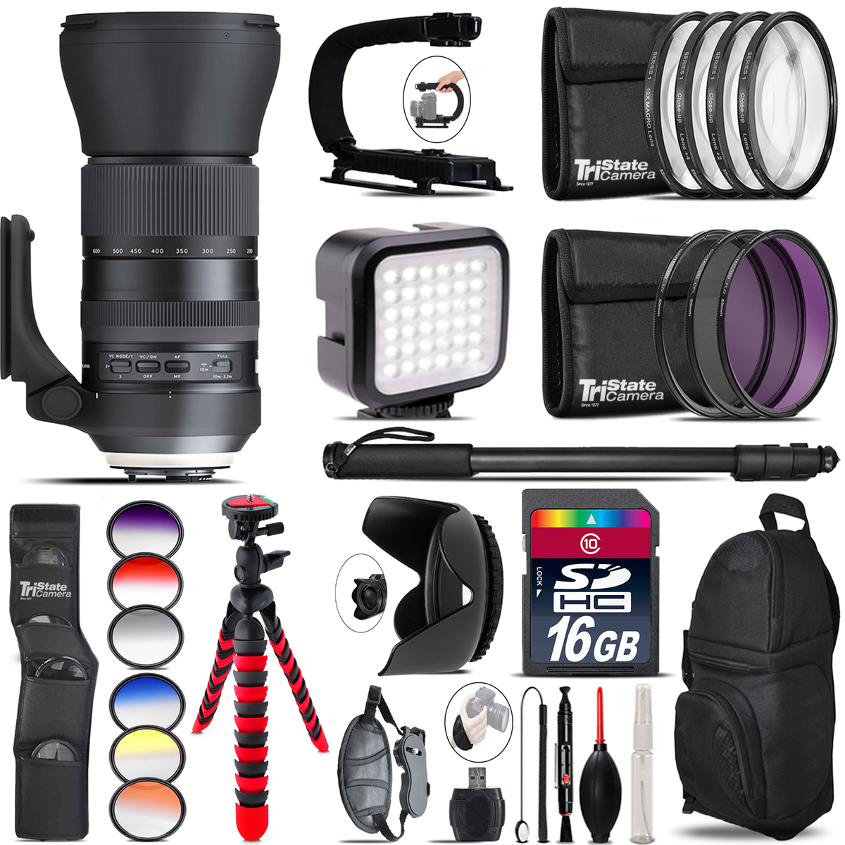 Tamron 150-600mm G2 for Canon - Video Kit + Color Filter - 16GB Accessory Kit *FREE SHIPPING*