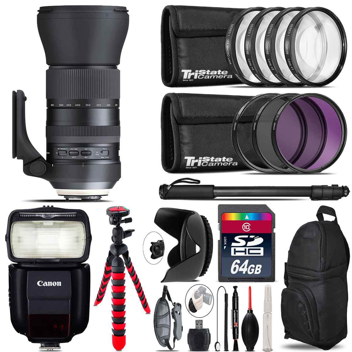 Tamron 150-600mm G2 for Canon + Speedlite 430EX III-RT & More - 64GB Kit *FREE SHIPPING*