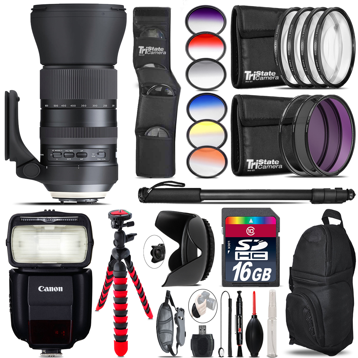 Tamron 150-600mm G2 for Canon + Speedlite 430EX III-RT - 16GB Accessory Kit *FREE SHIPPING*