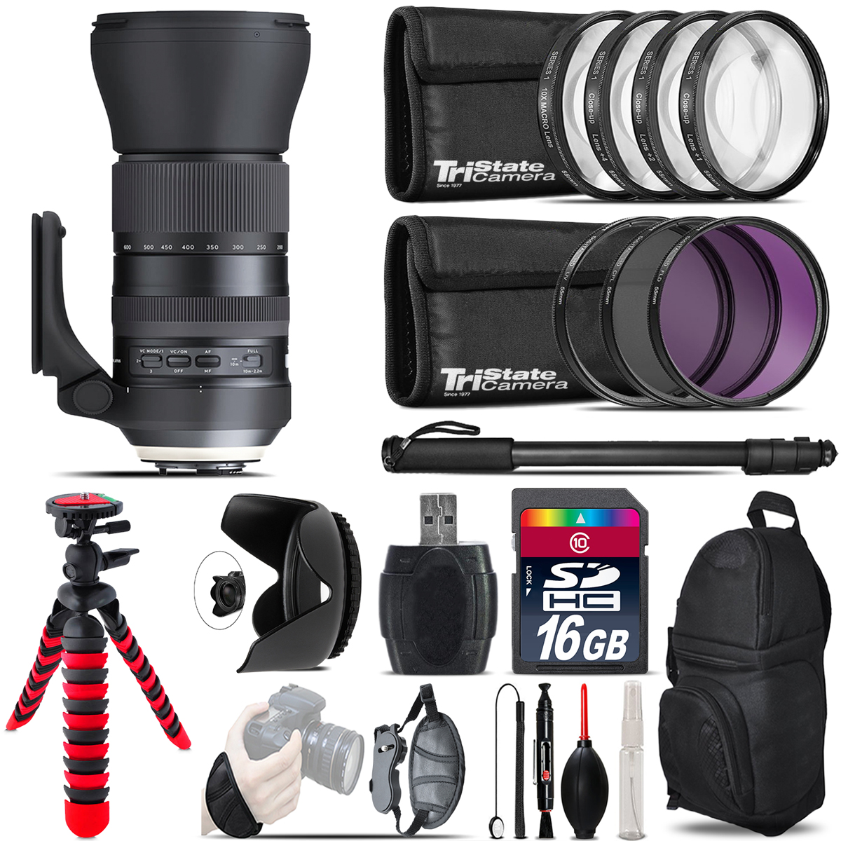 Tamron 150-600mm G2 for Nikon + Macro Filter Kit & More - 16GB Accessory Kit *FREE SHIPPING*