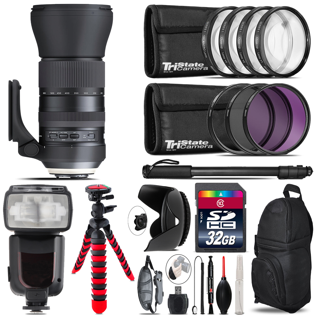 Tamron 150-600mm G2 for Nikon + Professional Flash & More - 32GB Accessory Kit *FREE SHIPPING*