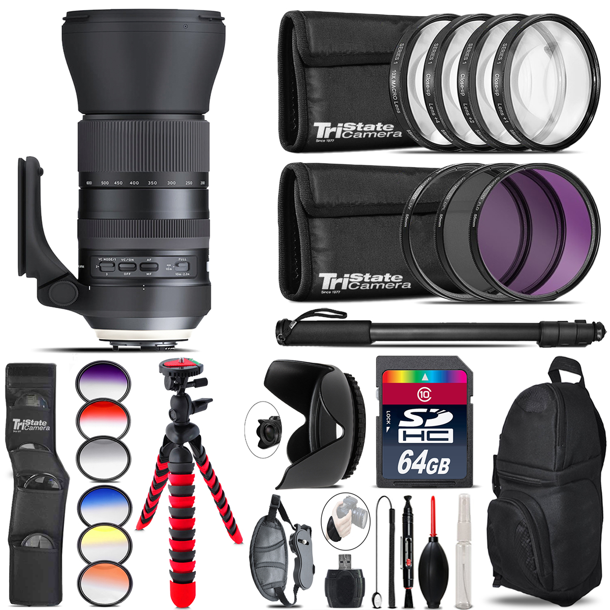 Tamron 150-600mm G2 for Nikon + Graduated Color Filter - 64GB Accessory Kit *FREE SHIPPING*